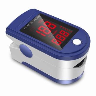 Biosync Pulse Oximeter(saturatiemeter)voor aan vinger; blauw