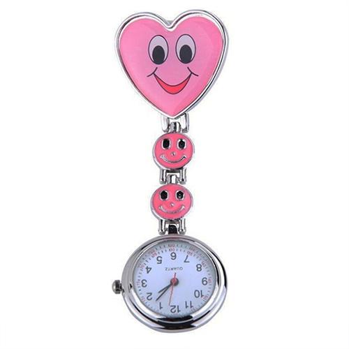 Verpleegkundigeklokje vrolijk hart; roze
