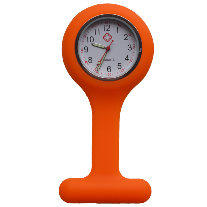 Verpleegkundige klokje siliconen; Orange