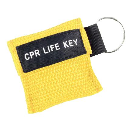 Lifekey in gele sleutelhanger