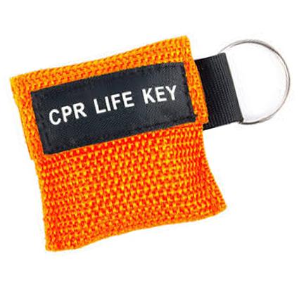 Lifekey in orange sleutelhanger