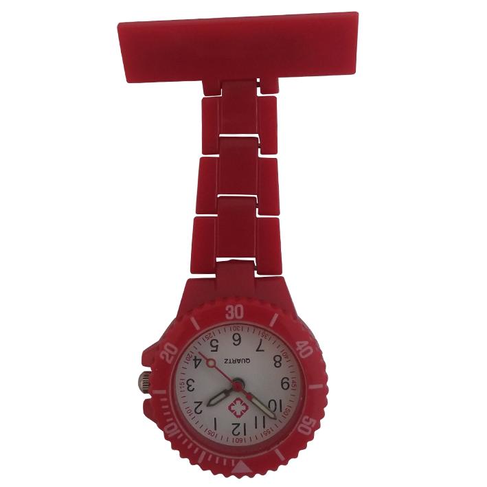Neon verpleegkundige horloge; rood