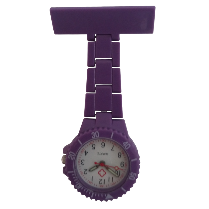 Neon verpleegkundige horloge; paars