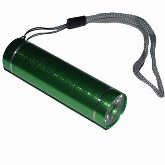 Zaklampje aluminium LED; Groen