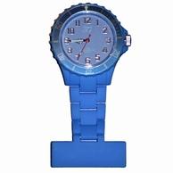 Neon verpleegkundige klokje; Blauw