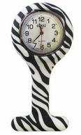 Verpleegkundige klokje siliconen; zebra