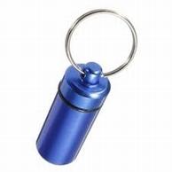 """Pillendoosje """" sleutelhanger"""" blauw"""