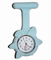 Verpleegkundige klokje siliconen; Bloem blauw