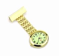 Mooi afgewerkt horloge met Japans uurwerk; goudkleur