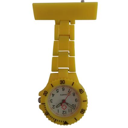 Neon verpleegkundige horloge; geel