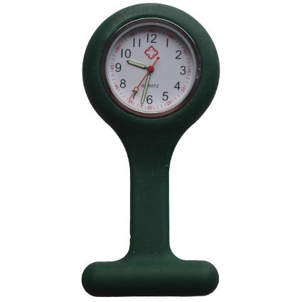 Verpleegkundige klokje siliconen; Donker groen