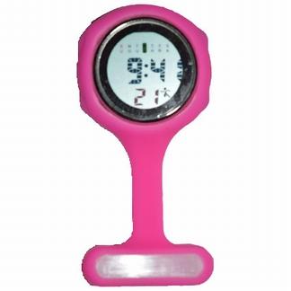Verpleegkundige klokje digitaal; Roze