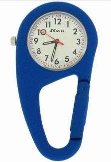 Stoer verpleegkundige klokje in stevige behuizing, blauw