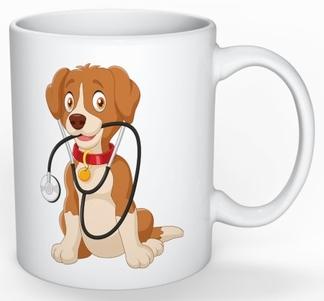 Mok: Hond met stethoscoop