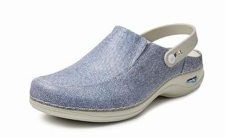 Wash & Go clog; open met riempje ; Jeans