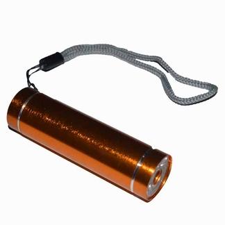 Zaklampje aluminium LED; Goud/Orange