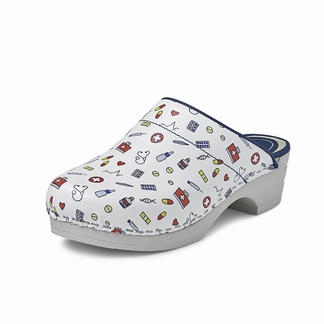 BigHorn clogs met buigzame zool; Space licht roze