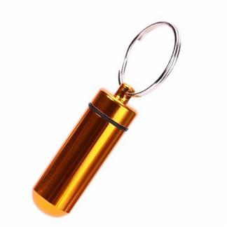 "Pillendoosje "" sleutelhanger"" goudkleur"