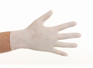 Latex handschoenen maat M; per pakje a 100 stuks