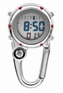Digitaal horloge met karabijhaak en compass