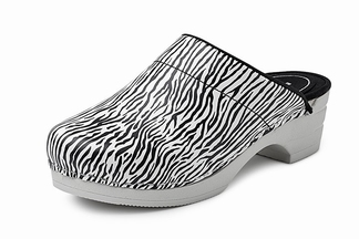 BigHorn clogs met buigzame zool; Zebra