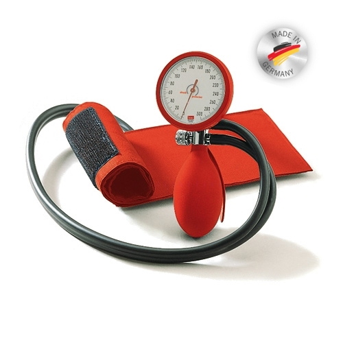BOSO clinical aneroïd bloeddrukmeter 1-slangs; rood