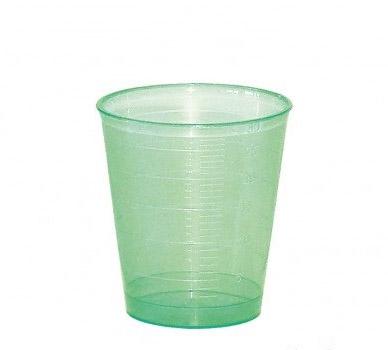 Medicijnbeker groen 30 ml ; 75 stuks