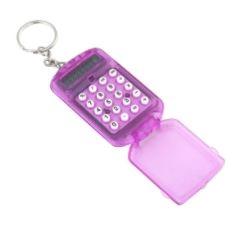 Mini calculator sleutelhangermodel; Paars