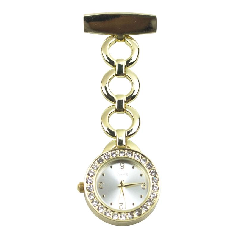 Mooi afgewerkt horloge met Japans uurwerk; goudkeur