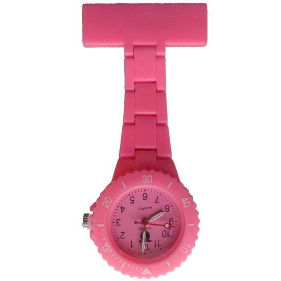 Neon verpleegkundige horloge; roze