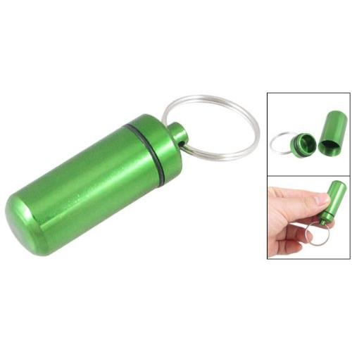 """Pillendoosje """" sleutelhanger"""" groen"""