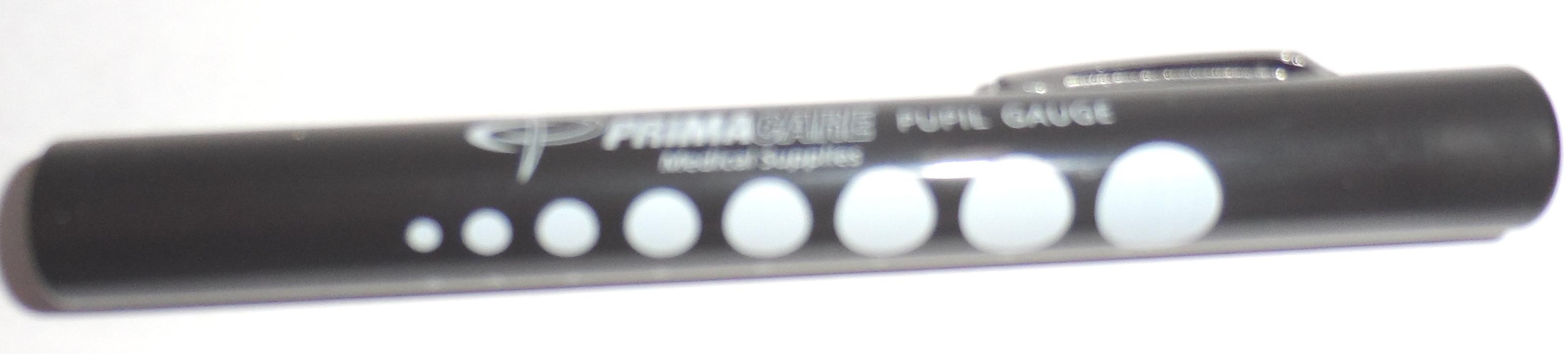 Pupillampje disposable, zwart