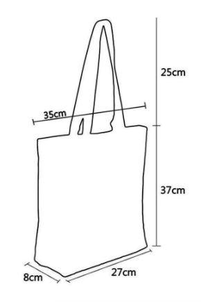 schoudertas met ritssluiting; blauw grafiek