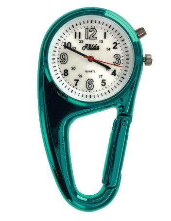 Stoer verpleegkundige klokje in stevige behuizing, Metalic