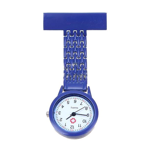 Verpleegkundige klokje met mooie band; Lichtblauw