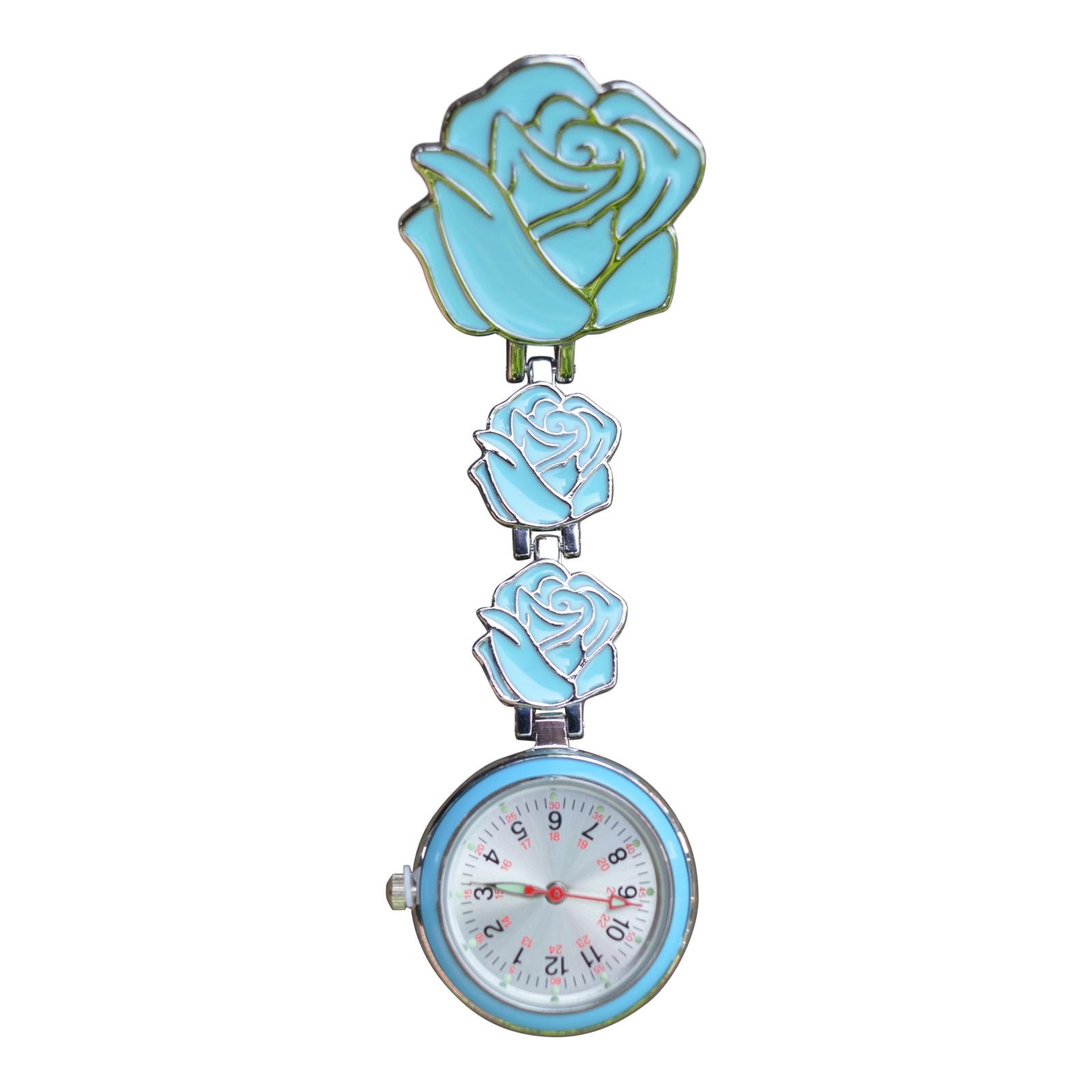Verpleegkundigeklokje ; blauwe bloem