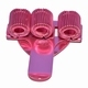 Pennenhouder voor drie pennen; Roze